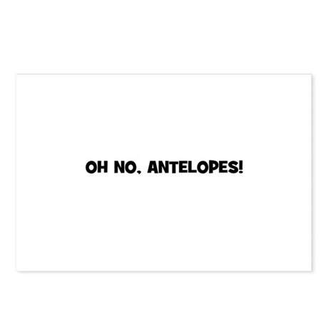 oh no, antelopes! Postcards (Package of 8)