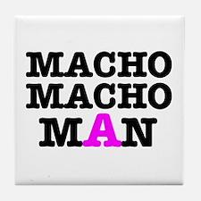 MACHO - MACH - MAN! Tile Coaster