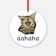 aahaha Kitty Round Ornament