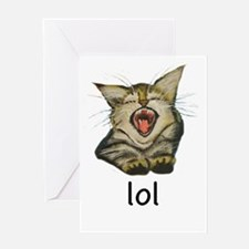 lol Kitty Greeting Cards
