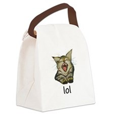 lol Kitty Canvas Lunch Bag
