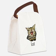 lol Kitty Canvas Lunch Bag