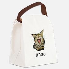 lmao Kitty Canvas Lunch Bag