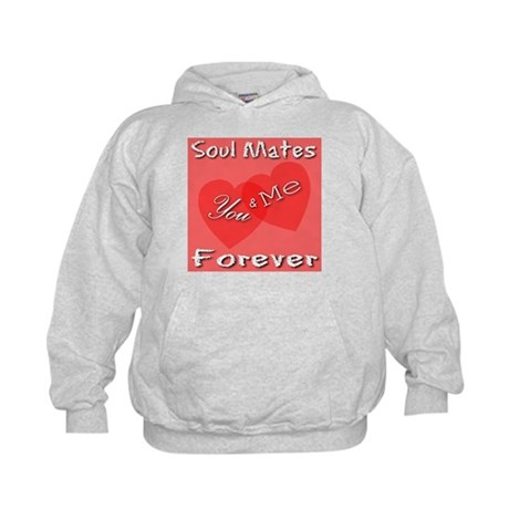 You & Me Soul Mates Forever Kids Hoodie