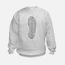 Running Shoe Print Sweatshirt