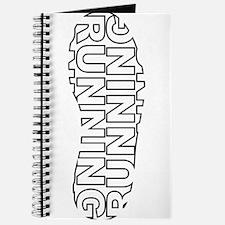 Running Shoe Print Journal