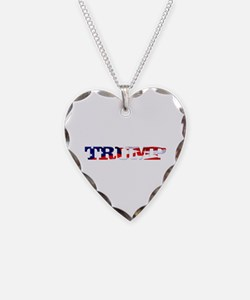 Trump - American Flag Necklace Heart Charm