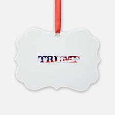 Trump - American Flag Ornament