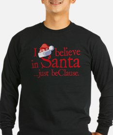I Believe In Santa Dark Long Sleeve T-Shirt