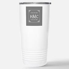Classic Black and White Travel Mug