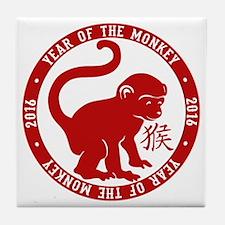 2016 Year Of The Monkey Tile Coaster