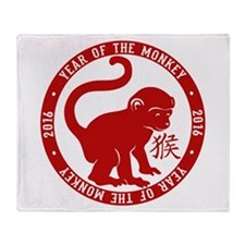 2016 Year Of The Monkey Throw Blanket