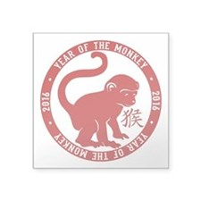 "2016 Year Of The Monkey Square Sticker 3"" x 3"""