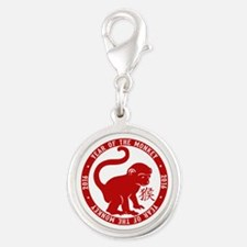 2016 Year Of The Monkey Silver Round Charm