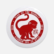 2016 Year Of The Monkey Round Ornament