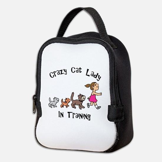 Crazy Cat Lady Trainee Neoprene Lunch Bag