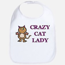 Crazy Cat Lady Bib