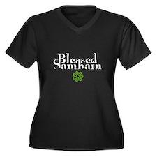 Blessed Samhain Women's Plus Size V-Neck Dark T-Sh