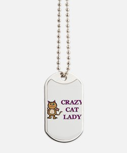 Crazy Cat Lady Dog Tags