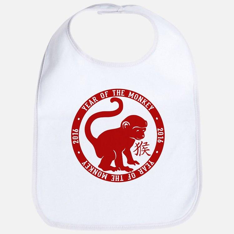 2016 Year Of The Monkey Bib