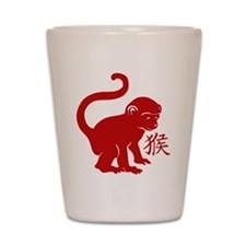 Cute Year Of The Monkey Shot Glass