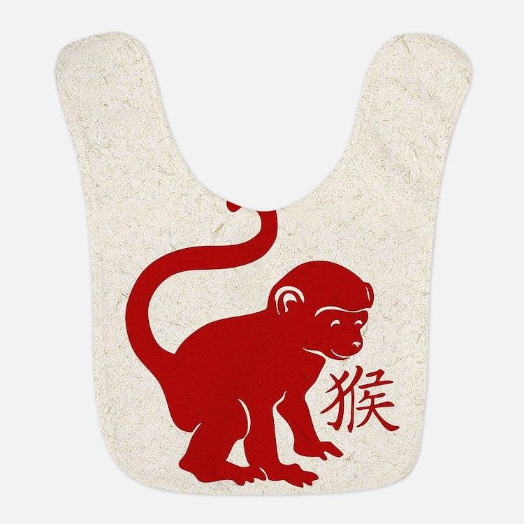 Cute Year Of The Monkey Bib