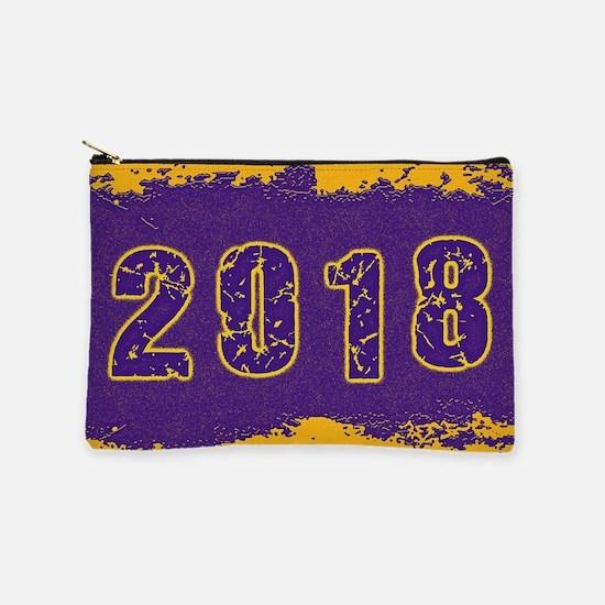2018 Purple Gold Makeup Bag