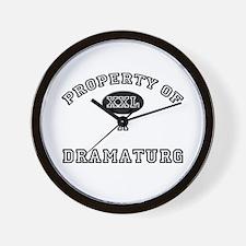 Property of a Dramaturg Wall Clock