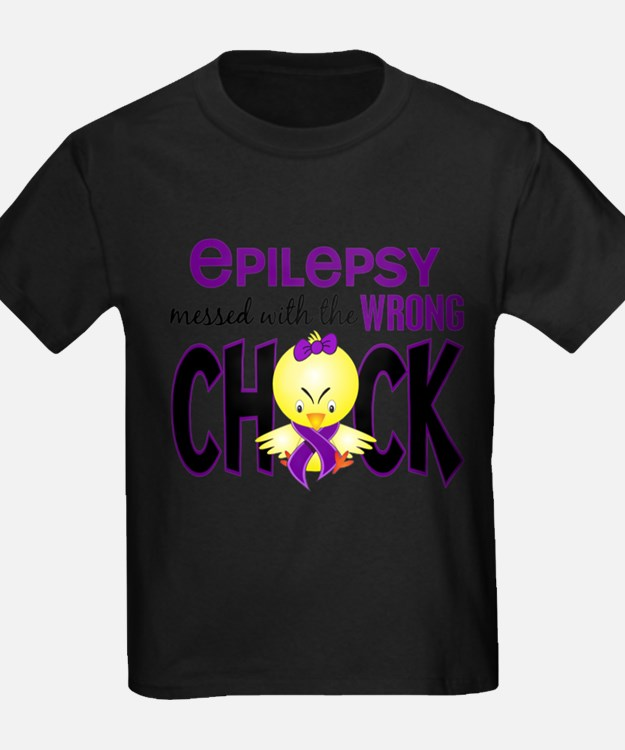 Cute Epilepsy purple ribbon T
