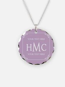 Lilac Vintage Frame Custom M Necklace
