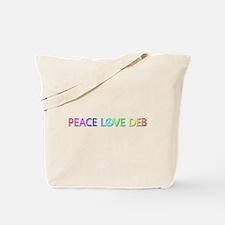 Peace Love Deb Tote Bag