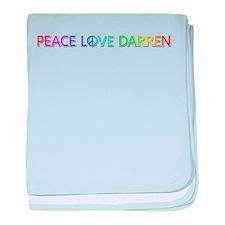 Peace Love Darren baby blanket