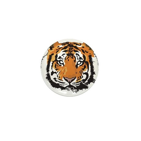 Tiger Face Mini Button (10 pack)