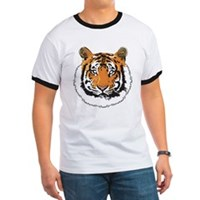 Tiger Face Ringer T
