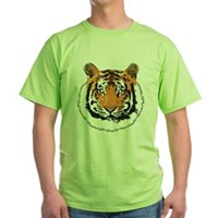Tiger Face Green T-Shirt