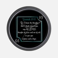 Bible Verse Quote Jeremiah 29:11 Wall Clock