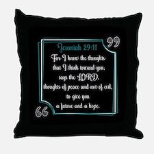Bible Verse Quote Jeremiah 29:11 Throw Pillow