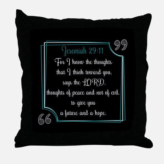 Bible Verse Quote Jeremiah 29:11 Throw Pillow