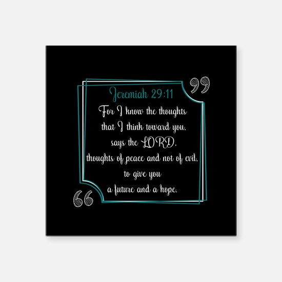 """Bible Verse Quote Jeremiah Square Sticker 3"""" x 3"""""""