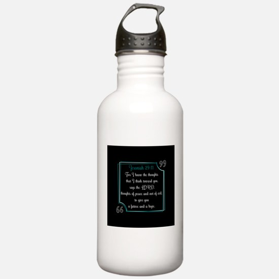 Bible Verse Quote Jere Water Bottle