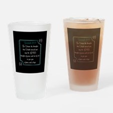 Bible Verse Quote Jeremiah 29:11 Drinking Glass