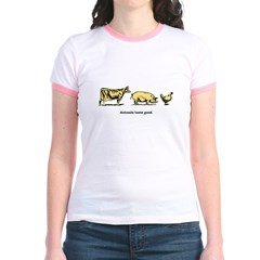 Animals taste good. Jr. Ringer T-shirt