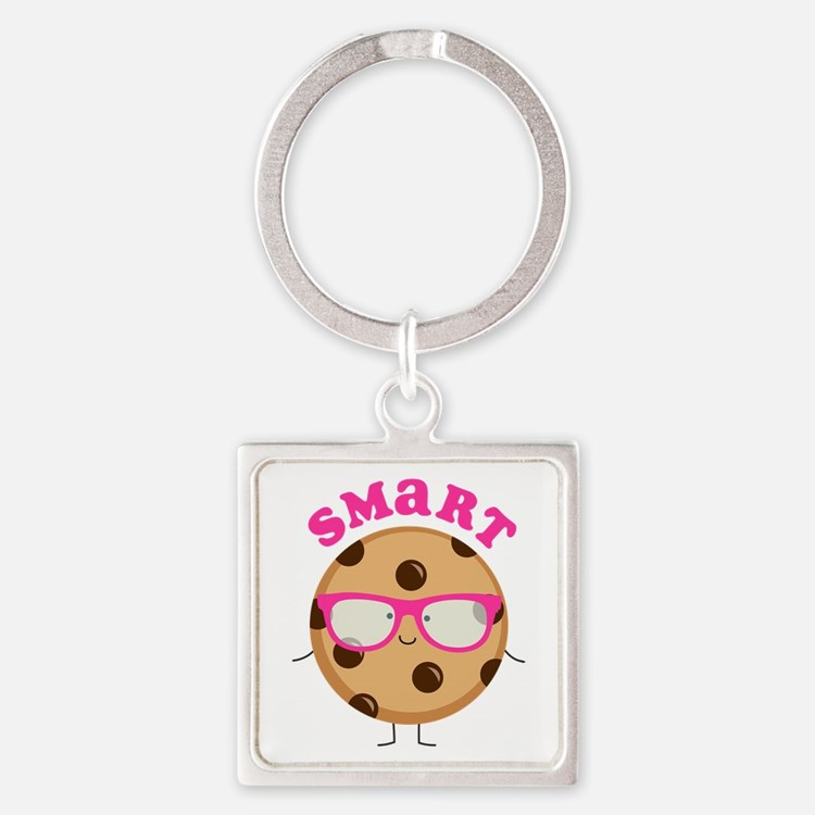 Smart Cookie Square Keychain