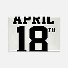 APRIL 18TH Rectangle Magnet
