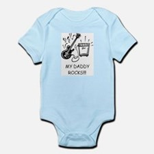 Cute Dad rocks Infant Bodysuit