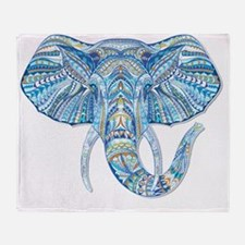 Funny Christmas elephant Throw Blanket
