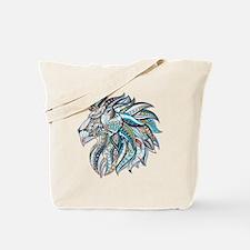 Cute White lion Tote Bag