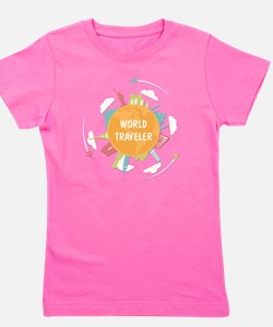 Cute World traveler Girl's Tee
