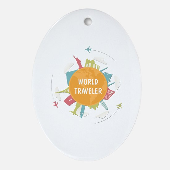 Cool World travelers Oval Ornament