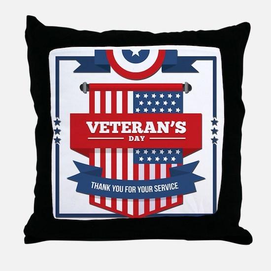 Funny Veteran Throw Pillow